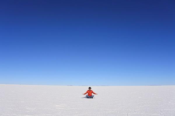 リス世界旅行ウユニ塩湖